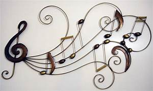 New contemporary metal wall art decor or sculpture music