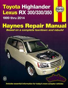 Shop Manual Highlander Service Repair Toyota Book Haynes