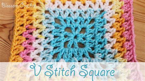 how to crochet av stitch super easy crochet v stitch square youtube