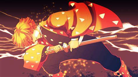demon slayer zenitsu agatsuma  sword  background