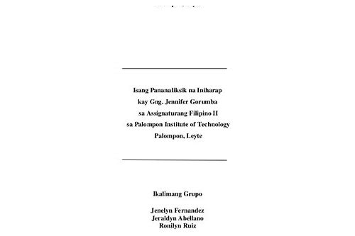 term paper in filipino free download