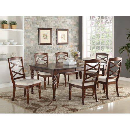 cherry wood finish modern casual dining room rectangle top