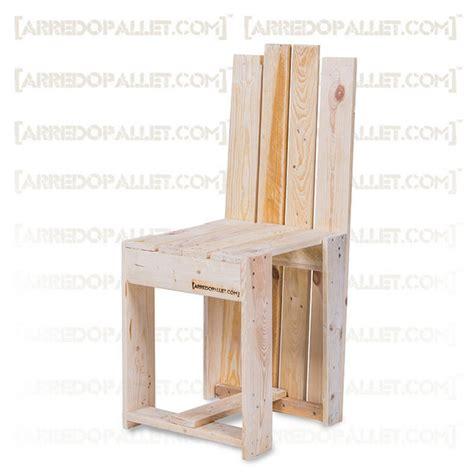 si鑒e design sedia wuul in pallet riciclato on line