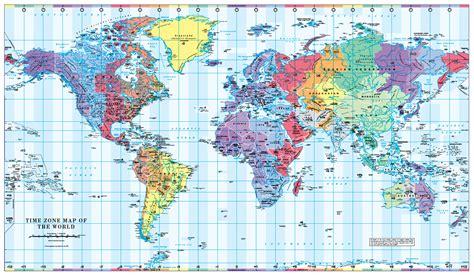 World Timezones Map - colour blind friendly - £14.99 ...