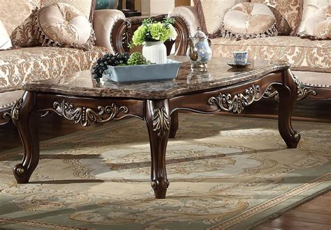 Design made simple.gold rim adds a wow factor to your room.round design allows for a simple flow to your space.contemporary modern design.marble is a very porous material, which means it can stain very quickly. Mcferran SF8900 Renaissance Coffee Table Marble Top