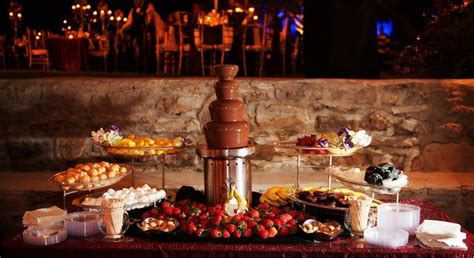 chocolate fondue stations event management planners
