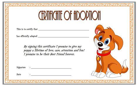 pet adoption certificate template   ideas