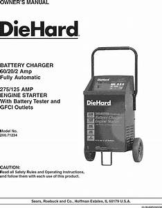 Diehard 20071234 User Manual Battery Charger Manuals And
