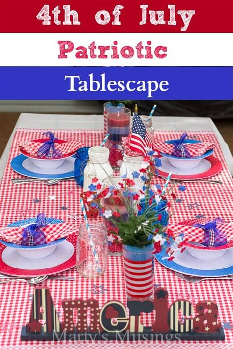 4th Of July Patriotic Tablescape