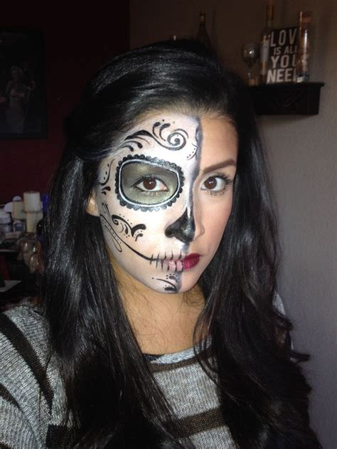scariest halloween makeup  day   dead