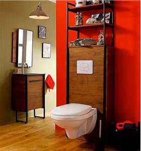Cuvette Wc Bois : deco wc suspendu bois ~ Premium-room.com Idées de Décoration
