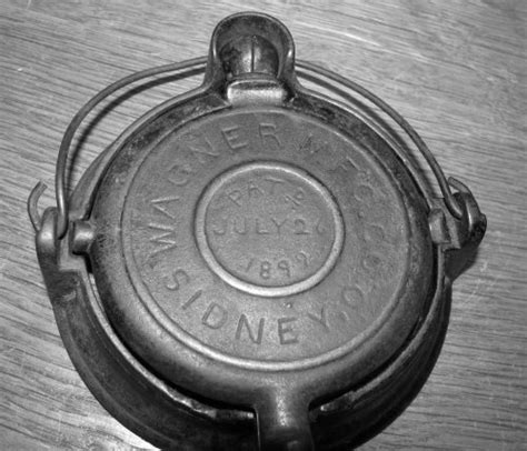iron wagner waffle cast unusual toy 1892 toys cookware manufacturing collector patent date castironcollector