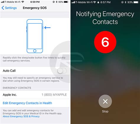 How To Use iOS 11 Emergency SOS Feature On iPhone ...