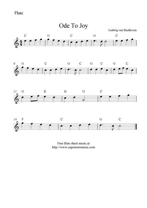 ode to joy for flute flute sheet music pinterest