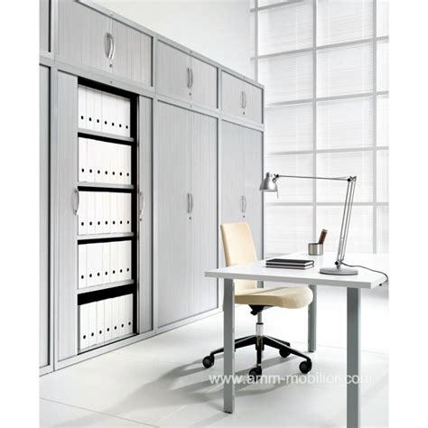 classeur rangement bureau armoire classeur pv amt plus avec portes rideaux aluminium