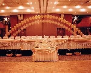 wedding balloon decorations ivory and gold