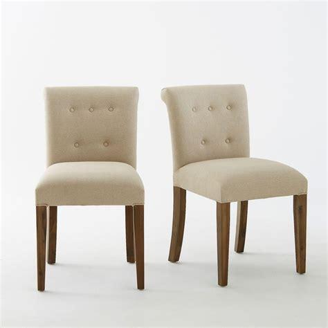 la redoute chaises de cuisine chaise dossier capitonné adélia lot de 2 la redoute