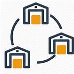 Warehouse Icon Network Storage Connection Icons Logistics