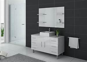 Meuble Simple Vasque : ensemble de salle de bain simple vasque sur pieds ref turin b ~ Teatrodelosmanantiales.com Idées de Décoration
