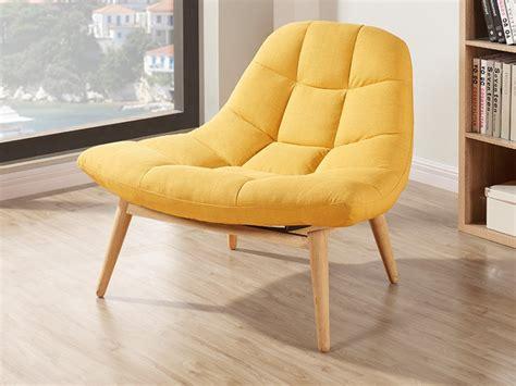 canapé assise profonde fauteuil design en tissu coloris jaune kribi