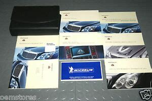 how to download repair manuals 2009 maybach 57 seat position control 2005 mercedes benz maybach 57 62 owners manual set ebay