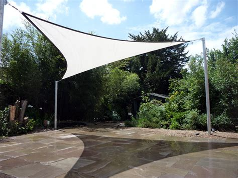 patio shade sail chislehurst installation shaded nation