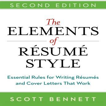 Elements Of A Resume Cover Letter by Listen To Elements Of Resume Style Essential For