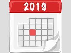 Clipart 2019 calendar