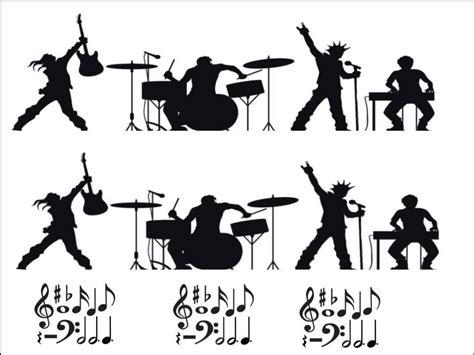 musicians  musical notes black silhouette  edible