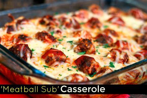 meatball casserole meatball sub casserole aunt bee s recipes