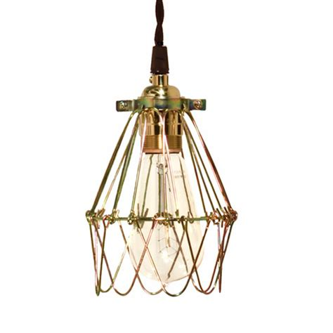 minimalist polished brass cage pendant barn light electric