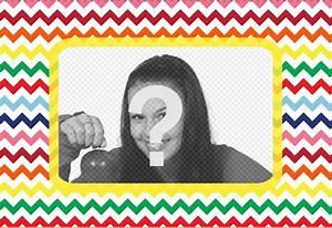 Cadre Pour Plusieurs Photos : lettre en forme de cadre pour mettre votre photo en plusieurs couleurs photoeffets ~ Teatrodelosmanantiales.com Idées de Décoration