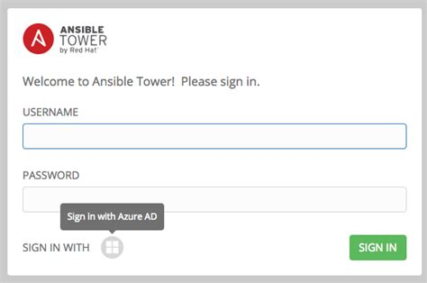 setting  enterprise authentication ansible tower