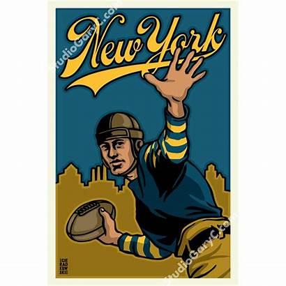 Football Deco Poster York 1920s 1920 Train