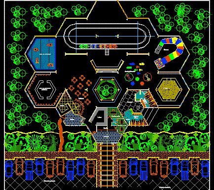 park  recreative games dwg block  autocad designs cad