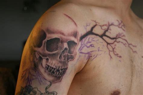 zeropunctuation schaedel tattoo auf schulter tattoos von
