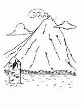 Coloring Mountains Mountain Printable Range Ausmalbilder Berge Kostenlos Nature Malvorlagen Ausdrucken Zum Template sketch template
