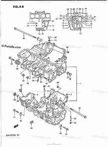 Suzuki Motorcycle 1989 Oem Parts Diagram For Crankcase