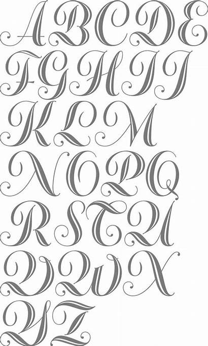 Cursive Fonts Font Alphabet Tattoo Lettering Abc