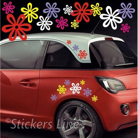 adesivi auto fiori kit adesivi fiori mod 8 60 pezzi smart fiat 500 auto