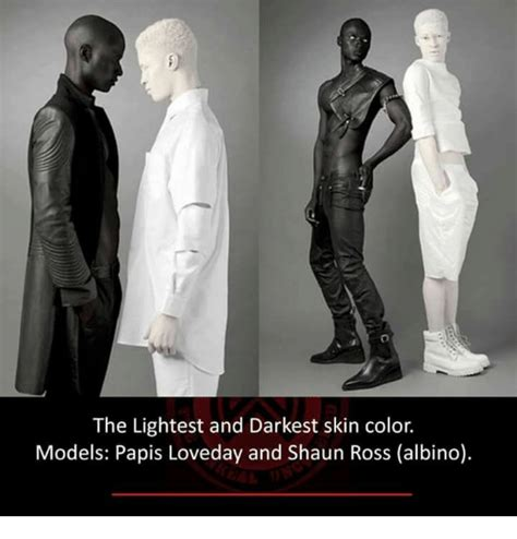darkest color in the world the lightest and darkest skin color models papis loveday