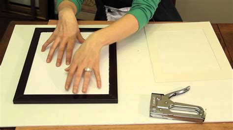 How To Put Glass In A Picture Frame That Is Tight