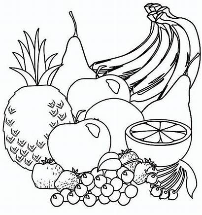 Fruit Coloring Pages Colour Pattern Drawing