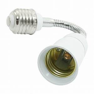 Light Lamp Bulb Flexible Extension Converter E26 Socket