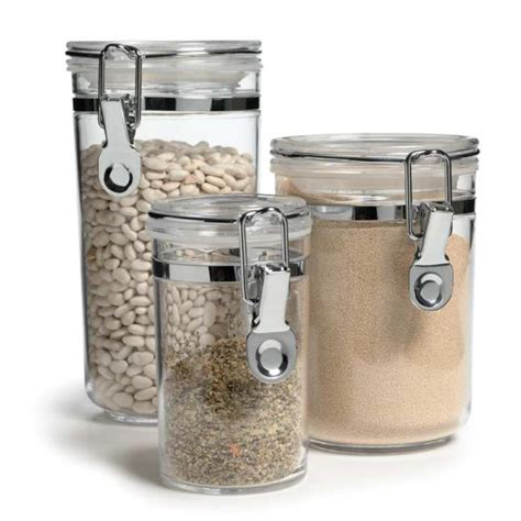 airtight kitchen canisters airtight canister set of 3