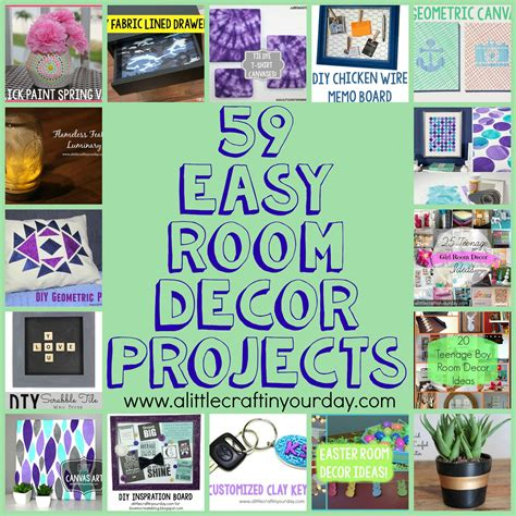 projects for bedroom decor 59 easy diy room decor projects a craft in your Diy