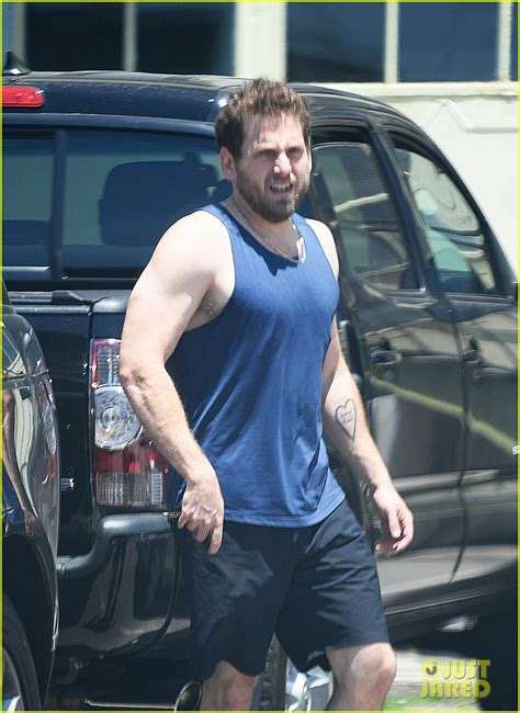 jonah hill   buff bares slim physique   tank