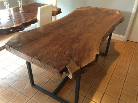 what is a live edge table handmade live edge claro walnut dining table by ozma