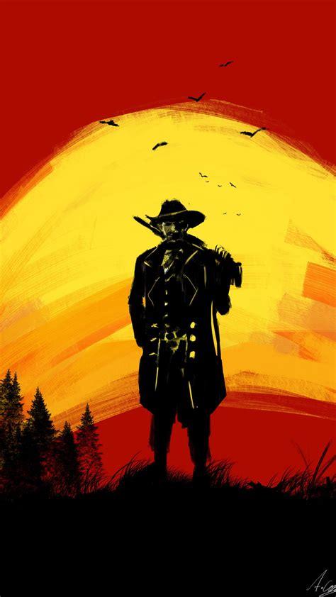 Red Dead Redemption 2 Cowboy Silhouette Fan Art