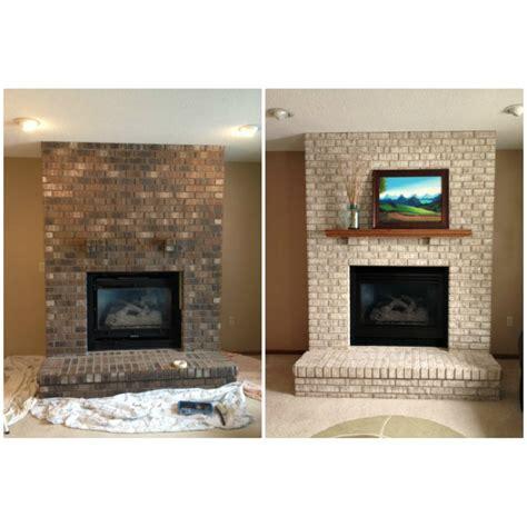 Fireplace Paint Kit Lighten Briighten Old Brick Fireplaces